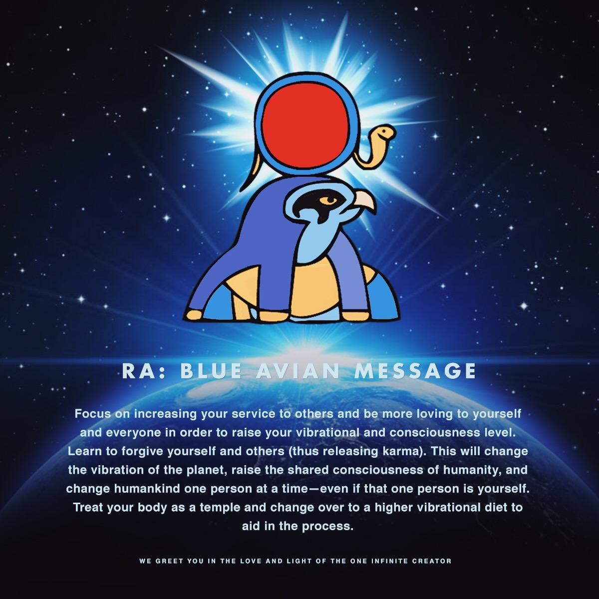 Blue Avian Message