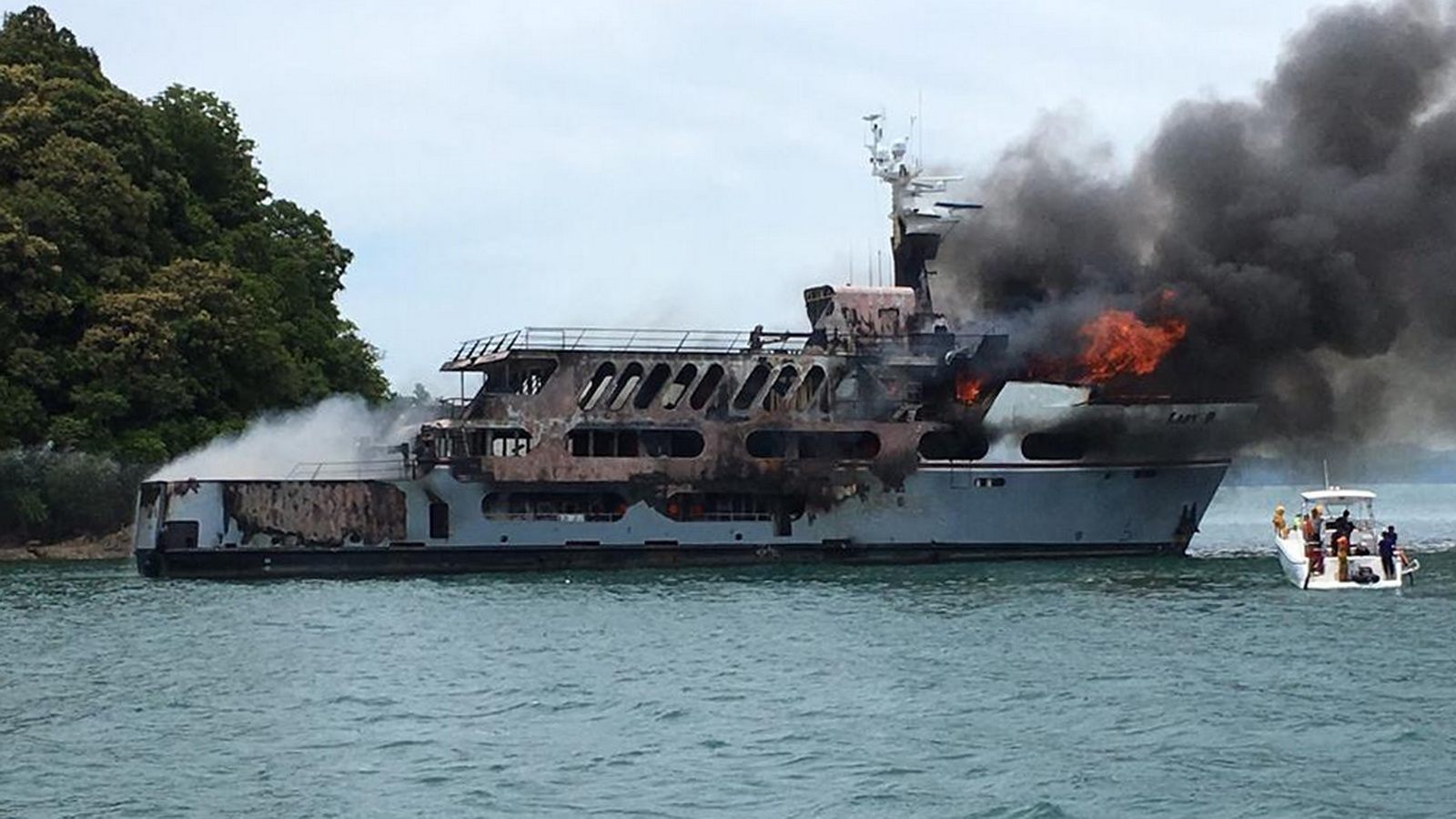 """Lady D"" gutted by Fire"