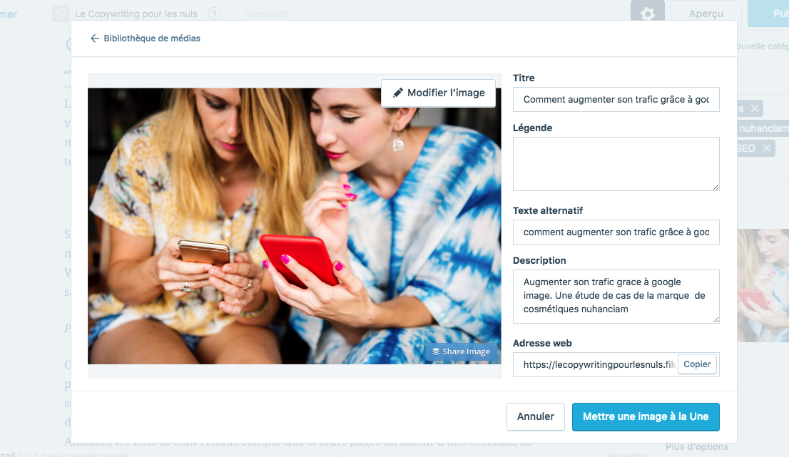 comment optimiser les images d'un site WordPress