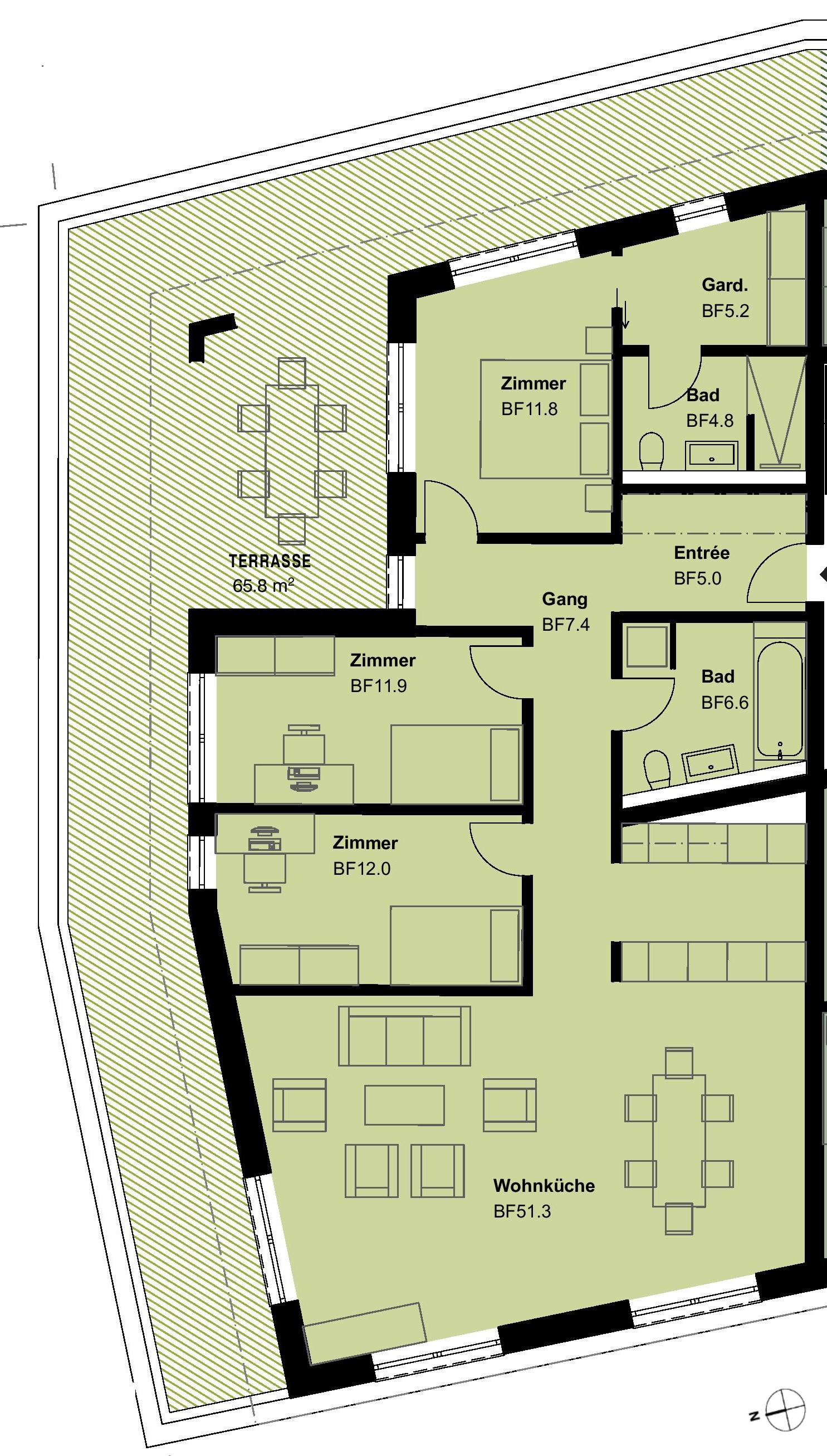 ATTIKA4.5 Zimmerwohnung 1.OG - Typ 10