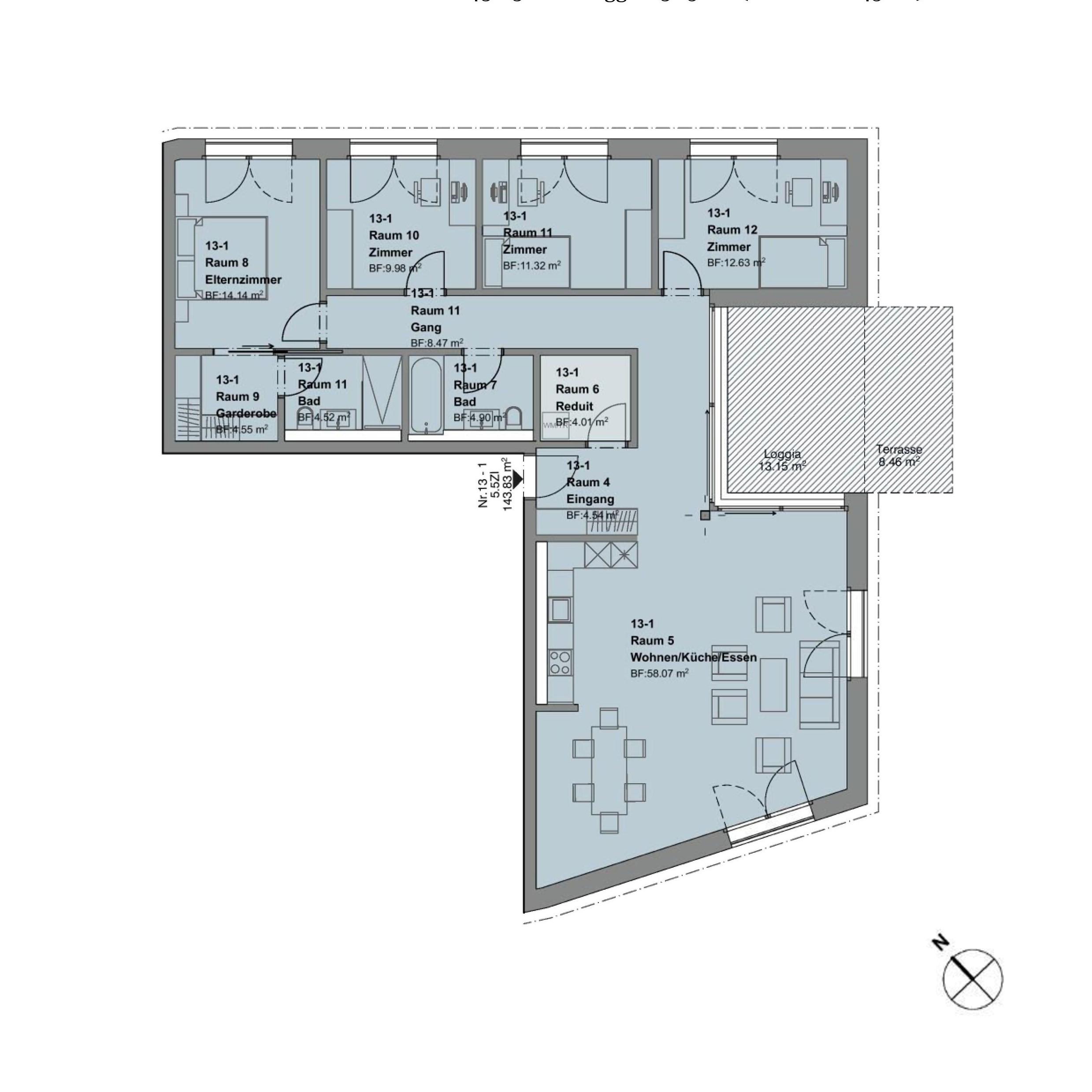 5.5 Zimmerwohnung EG mit Garten -