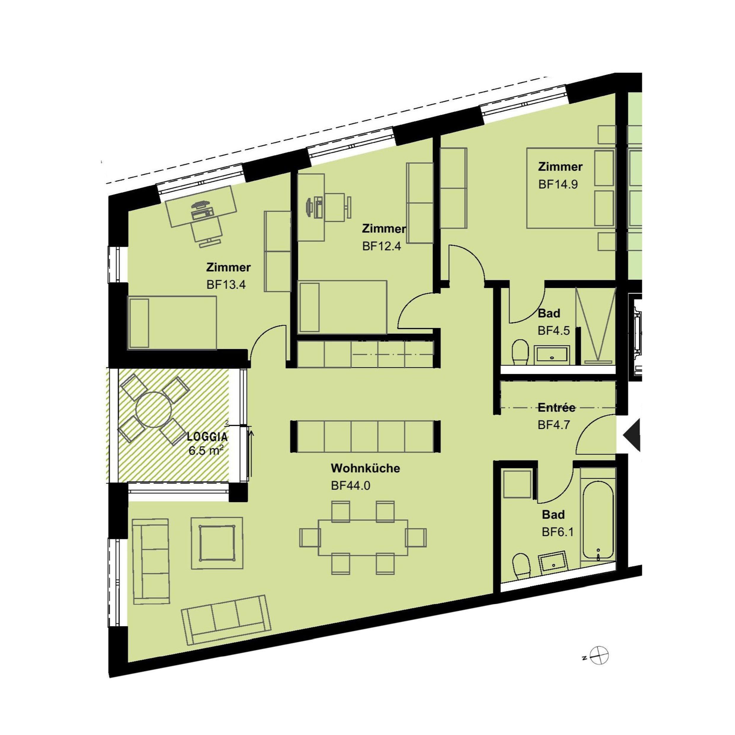 4.5 Zimmerwohnung 1.OG - haus f
