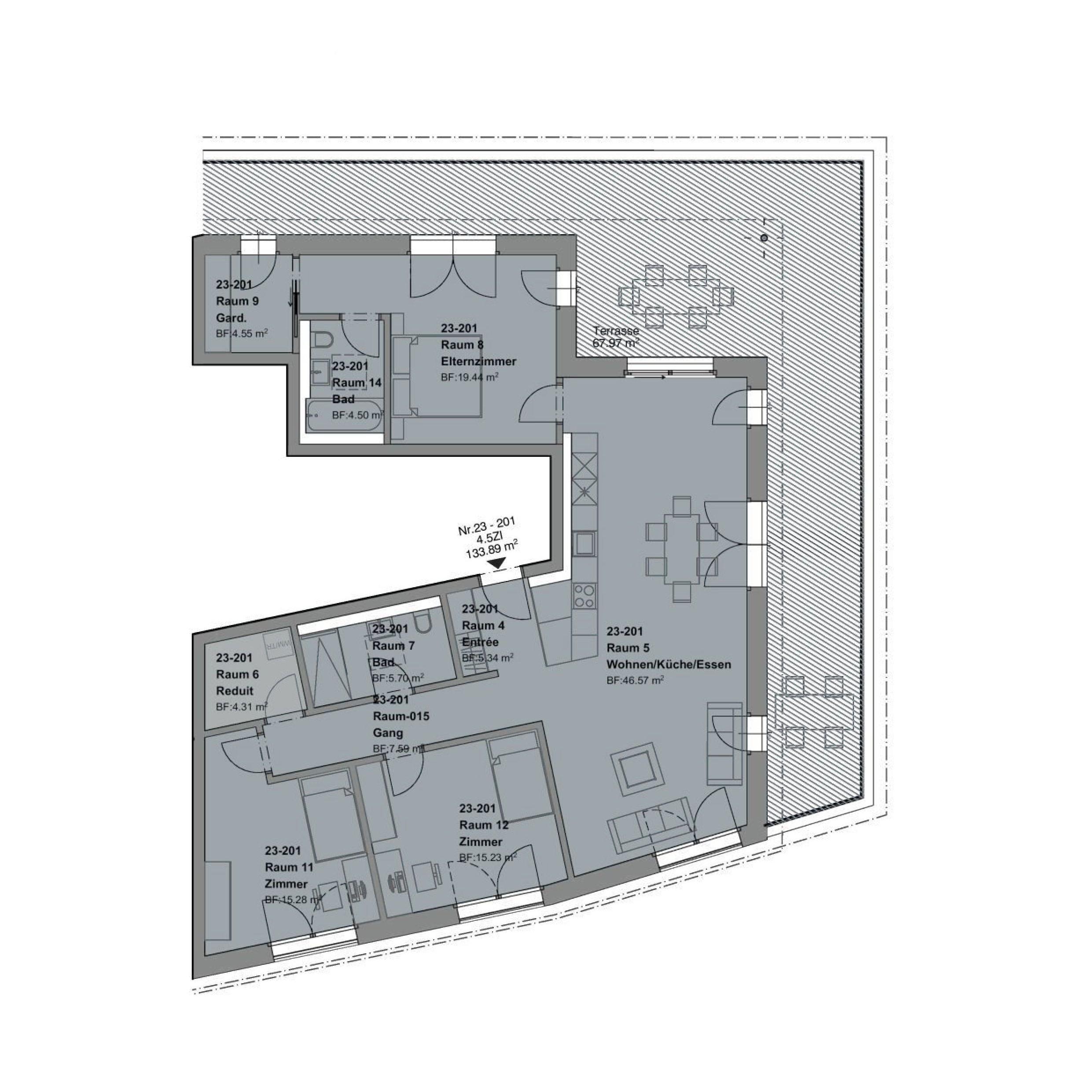 ATTIKA4.5 Zimmerwohnung - haus f