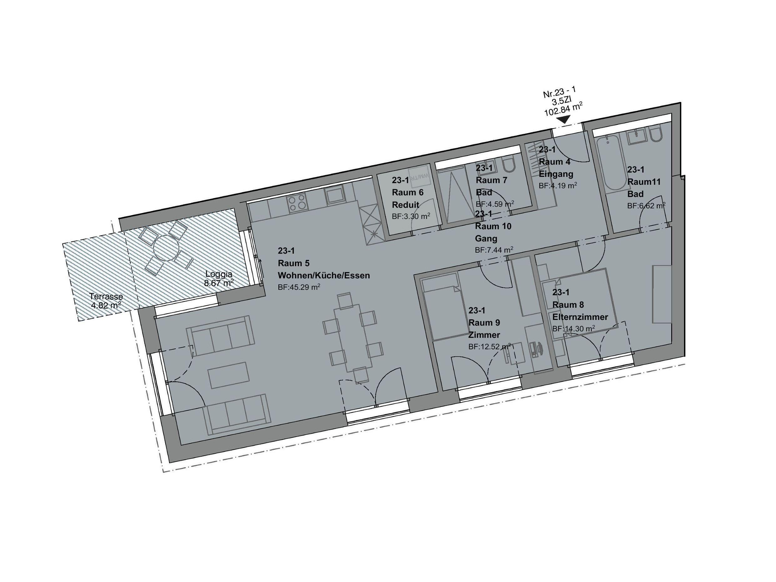3.5 Zimmerwohnung mit Garten - haus f