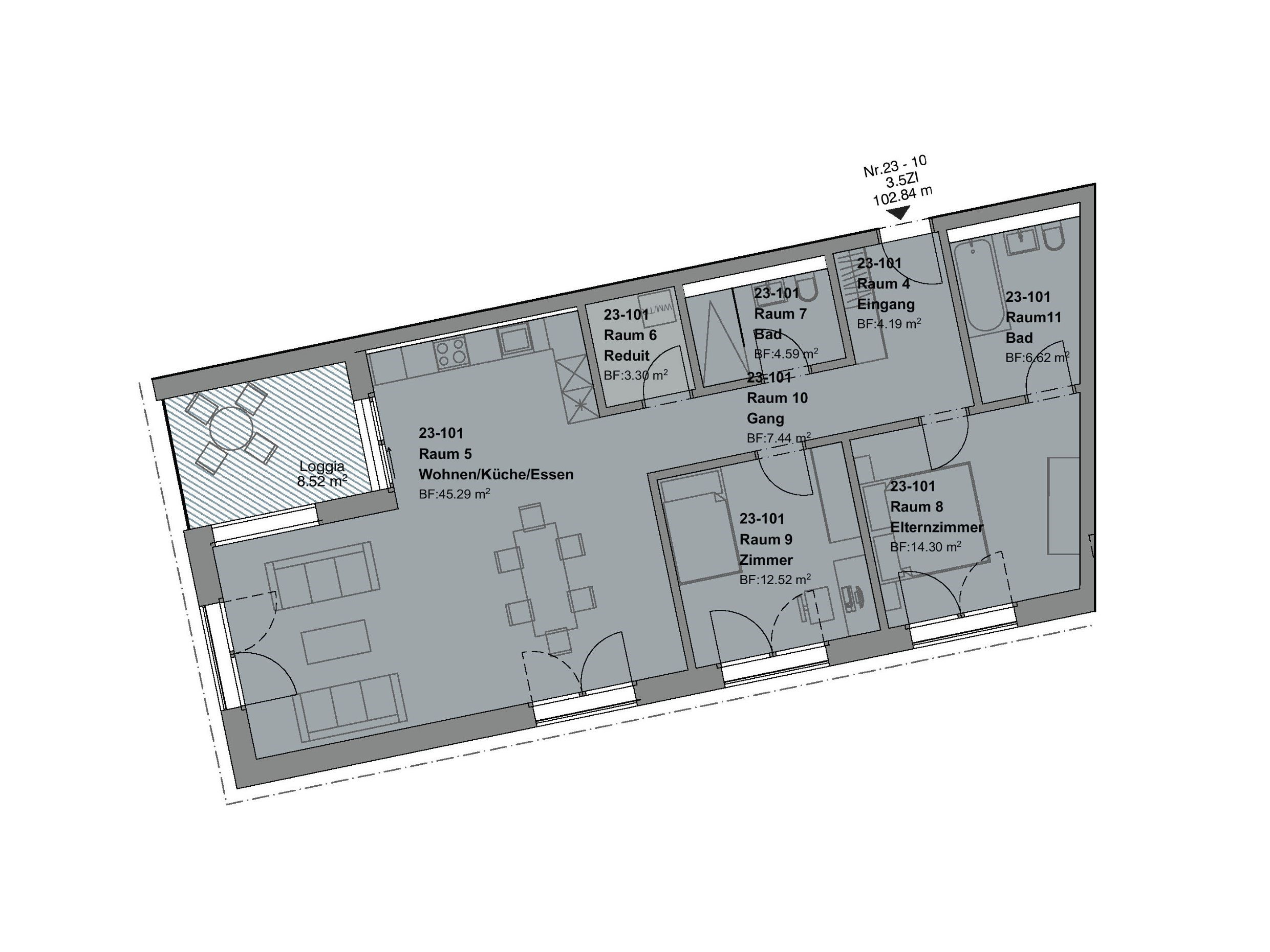 3.5 Zimmerwohnung 1. OG - HAUS f
