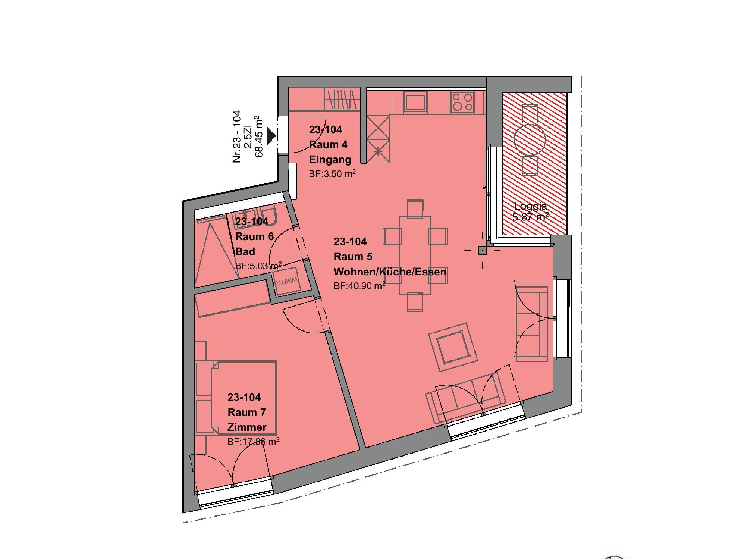2.5 Zimmerwohnung1.OG - haus f
