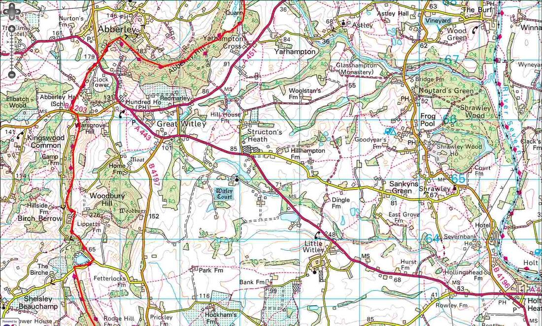Worcestershire Way - Yarhampton Cross to Shelsley Beauchamp