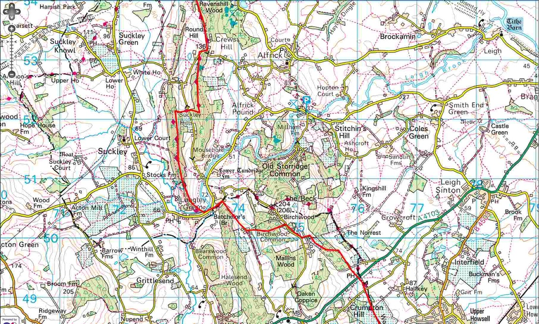 Worcestershire Way - Round Hill to Birchwood