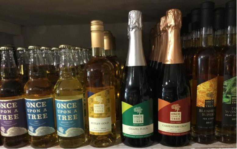 """Once Upon A Tree Cider - •Made at Dragon Orchard near Marcle Ridge in Herefordshire•Launched in 2008 by Simon Day, from Sixteen Ridges Vineyard•Awards include BBC Radio 4 Food & Farming """"Drinks Producer of the Year"""" 2013 and Bath & West Champion Perry Trophy in 2015"""