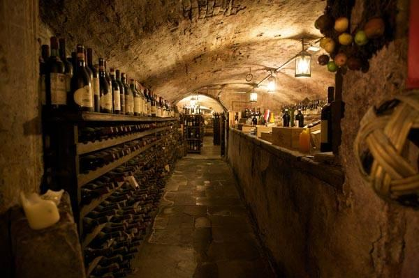 Our wine cellar is not quite this big but you get the idea