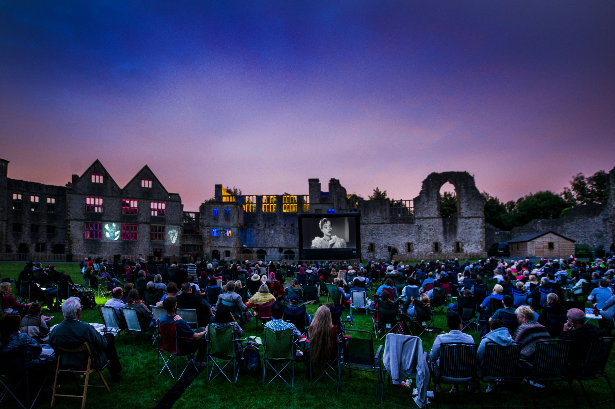 Flatpack outdoor cinema at Dudley Castle - part of CBC's Imagine That! summer season in 2016. Image by Katja Ogrin.