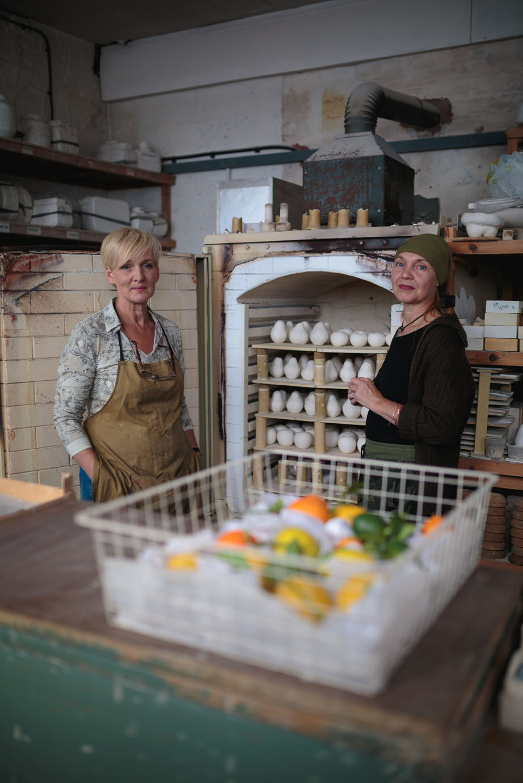 Lorraine & Nicki from Penkridge Ceramics - portrait by Laura Dicken