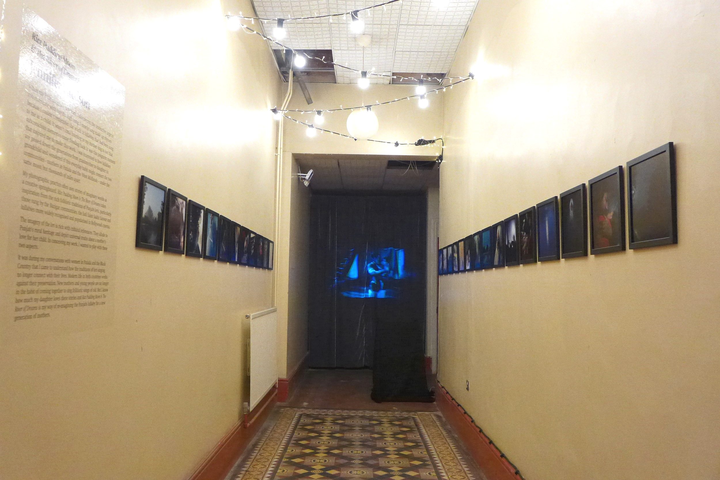 Jennifer Pattison's work includes a projection of Punjabi lori's (lullabies) from Indian films