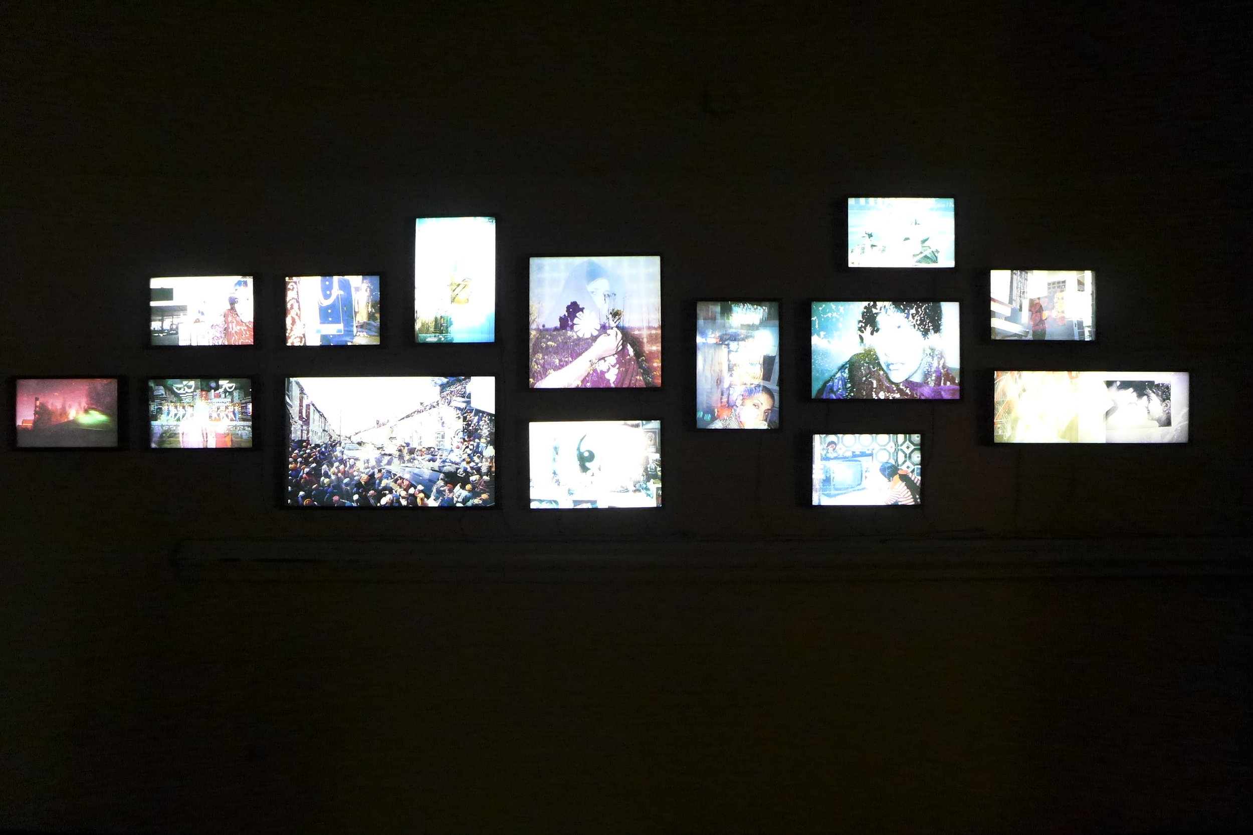 Uzma Mohsin displays her multi-layered images in light boxes and via a projection piece