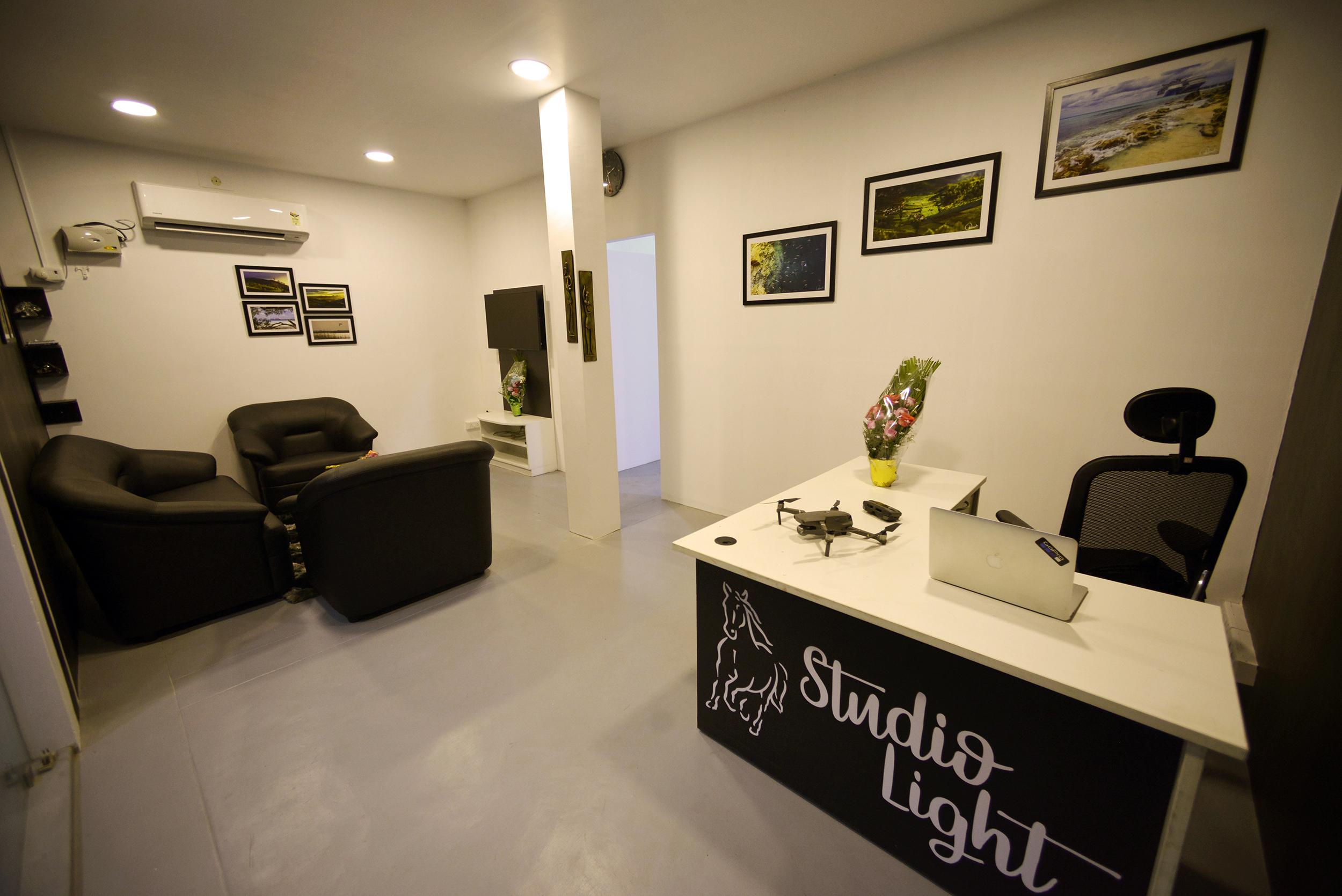 Studio Light's cozy Reception area -
