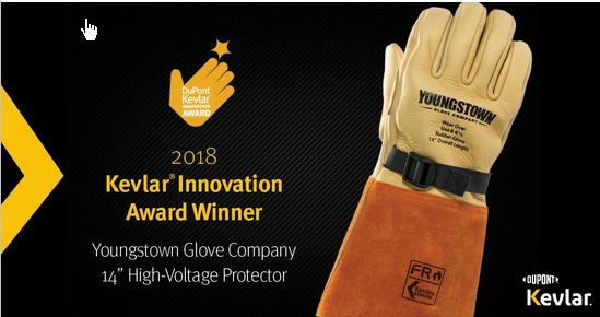 """Youngstown Glove Company 14"""" High-Voltage Protector  A flame-resistant 14"""" high-voltage leather protector lined with Kevlar, arc rated to 48 cal/cm2, puncture resistant to ANSI level 5 and cut-resistant to ANSI A3. Designed to fit over class 1 through 4 rubber insulation gloves.  Read more about the Kevlar awards  here ."""