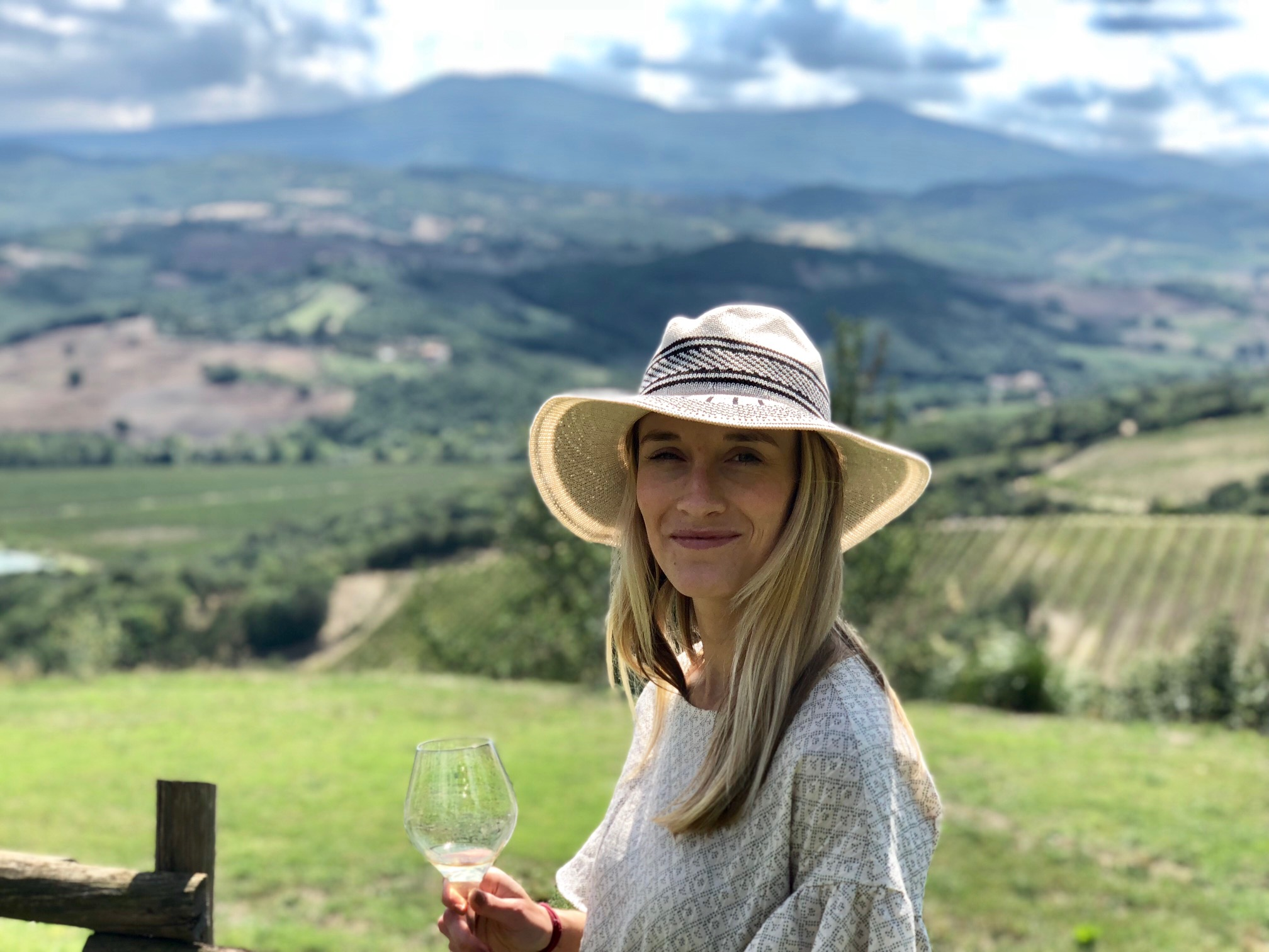At one of Tuscany's unreal vineyards right before an authentic Tuscan lunch prepared by the vineyard  madre . Can you believe that was entirely GF too? Neither could I.