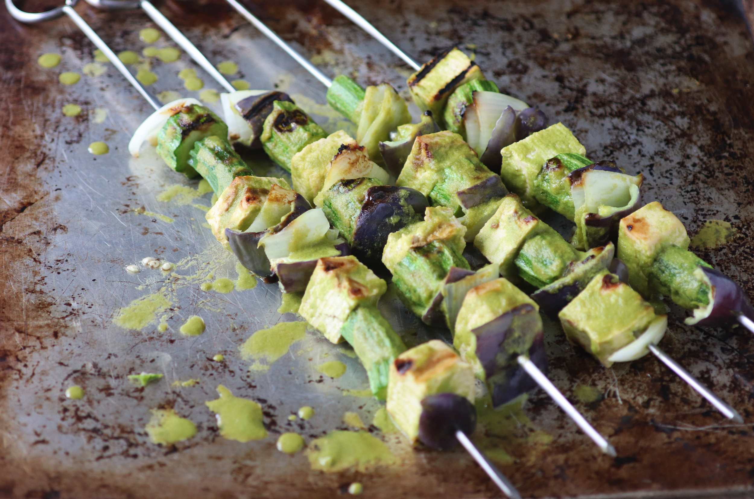 tofu skewers, kalbi marinade, the chef show, roy choi, vegan, plant based, gluten free,.jpg
