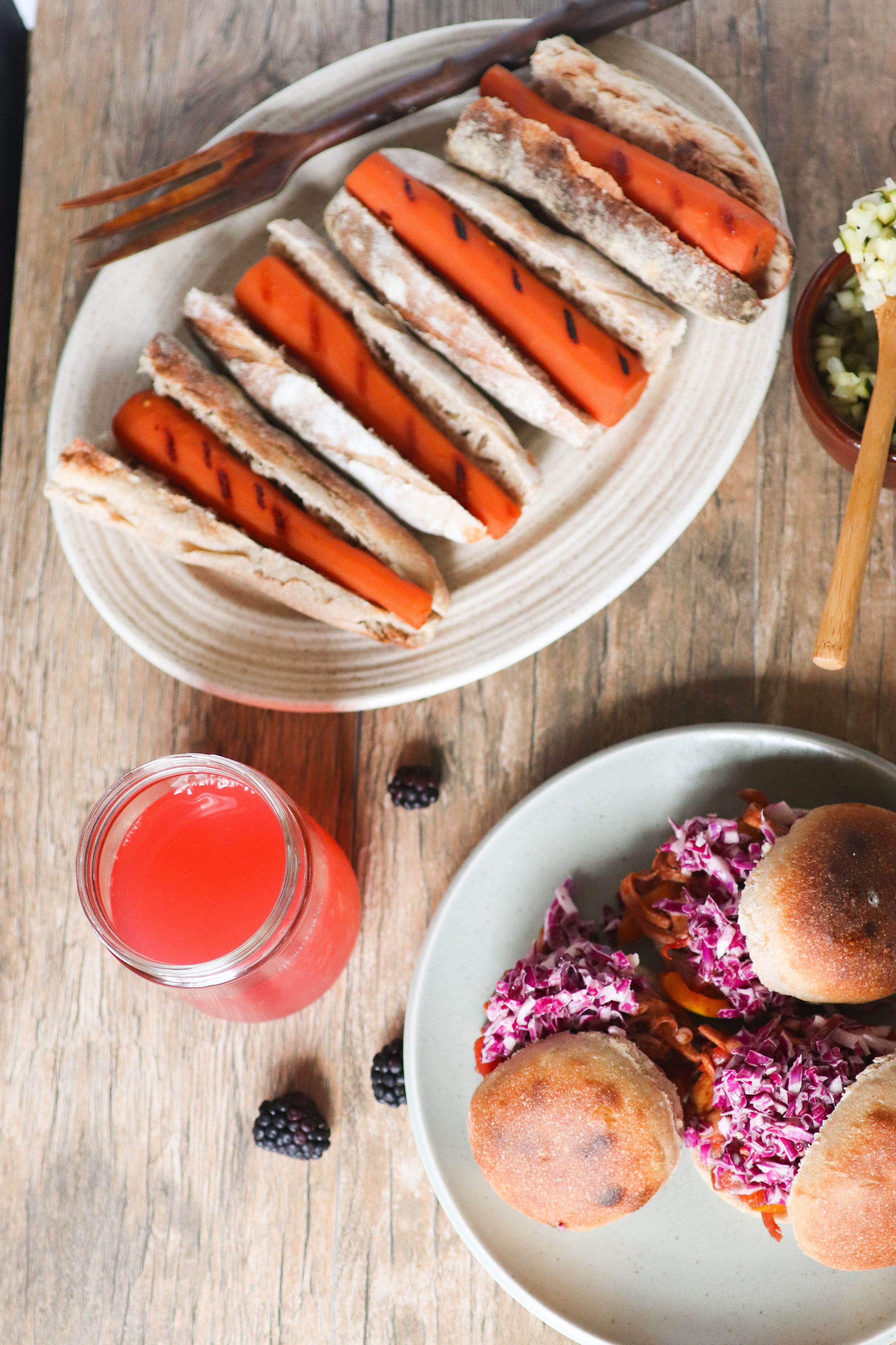 ebook, summer, barbeque, plant based, carrot dogs, vegan, gather, cookout.jpg