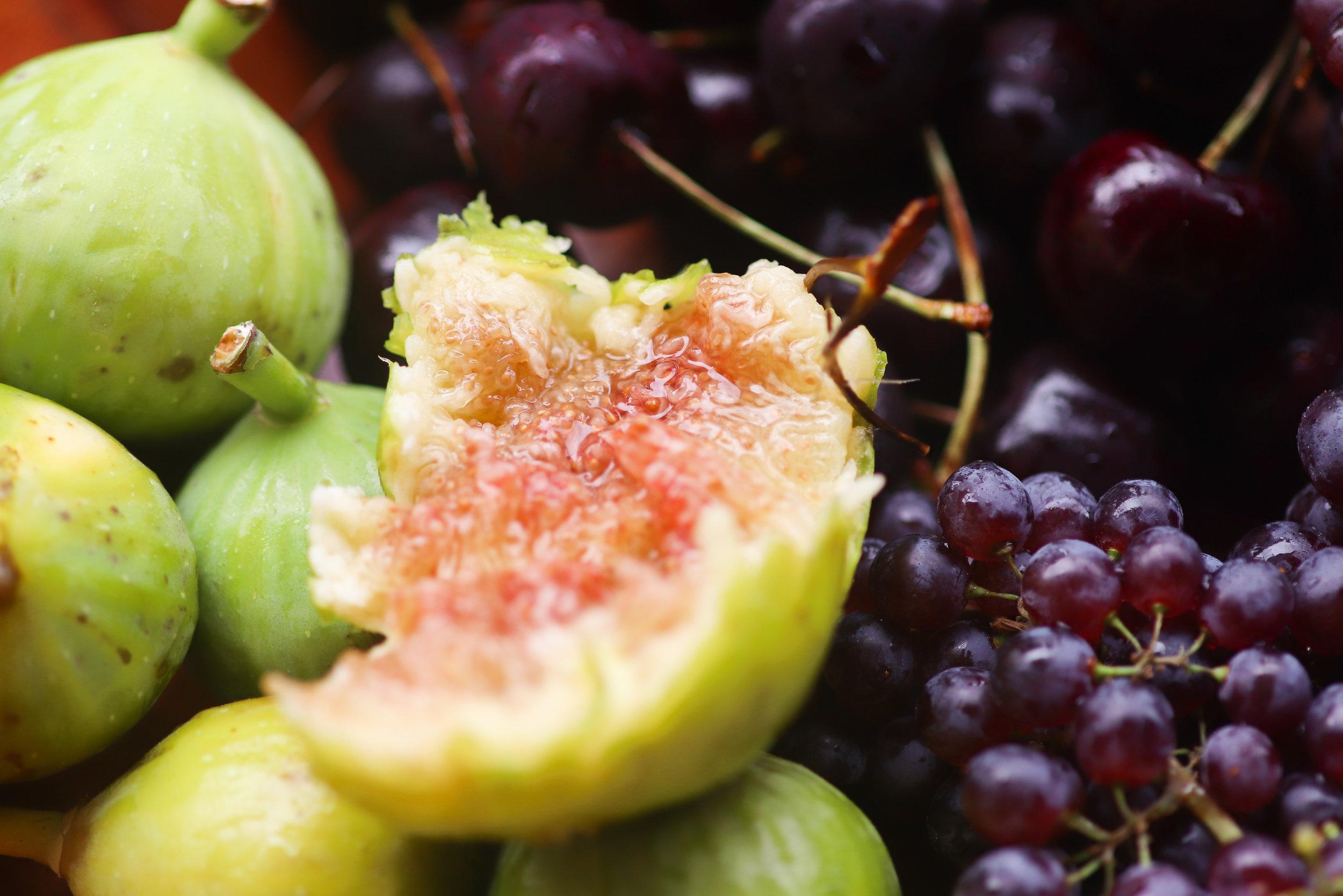 Fresh figs that melt like jam on your tongue.