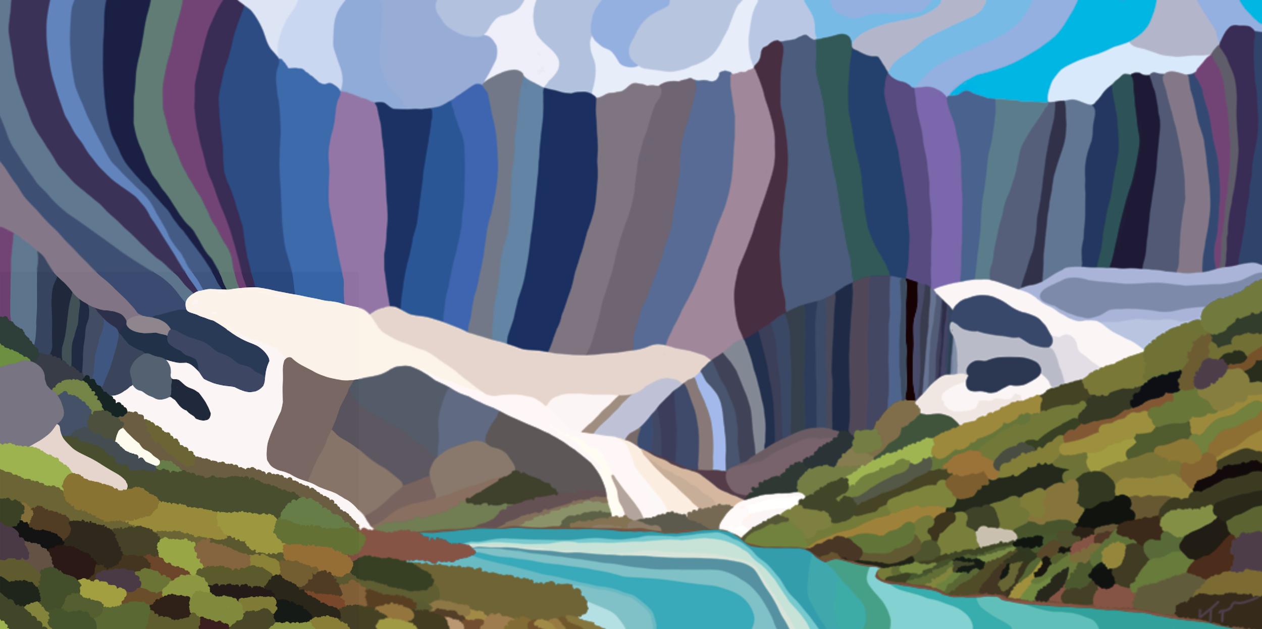 Glacier National Park  , 2019  Dye Sublimation on Aluminum   ORIGINAL   |   LIMITED EDITION   |  SOUVENIR