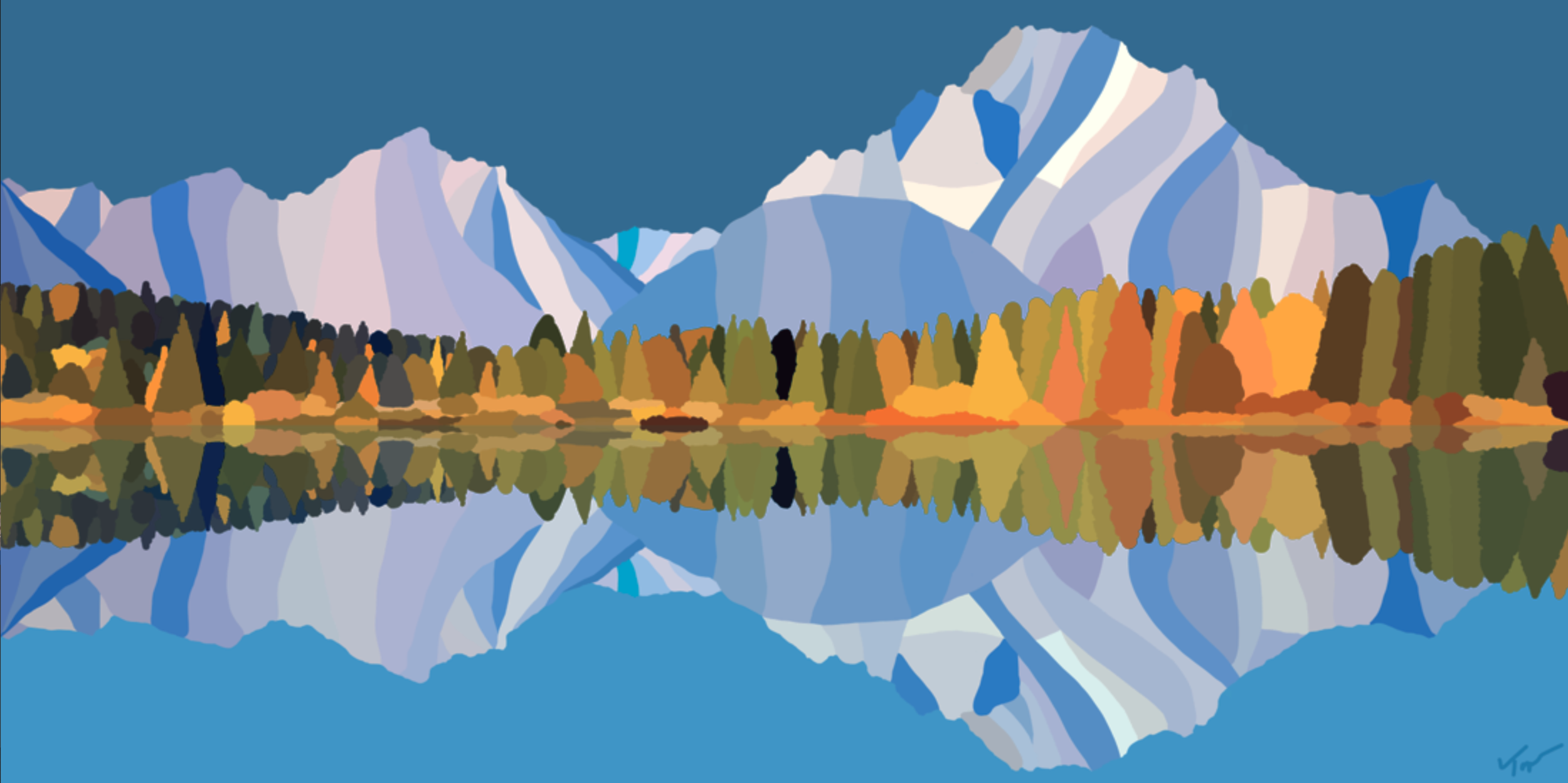 Denali National Park  , 2019  Dye Sublimation Print on Aluminium  46 × 70 × 1 in