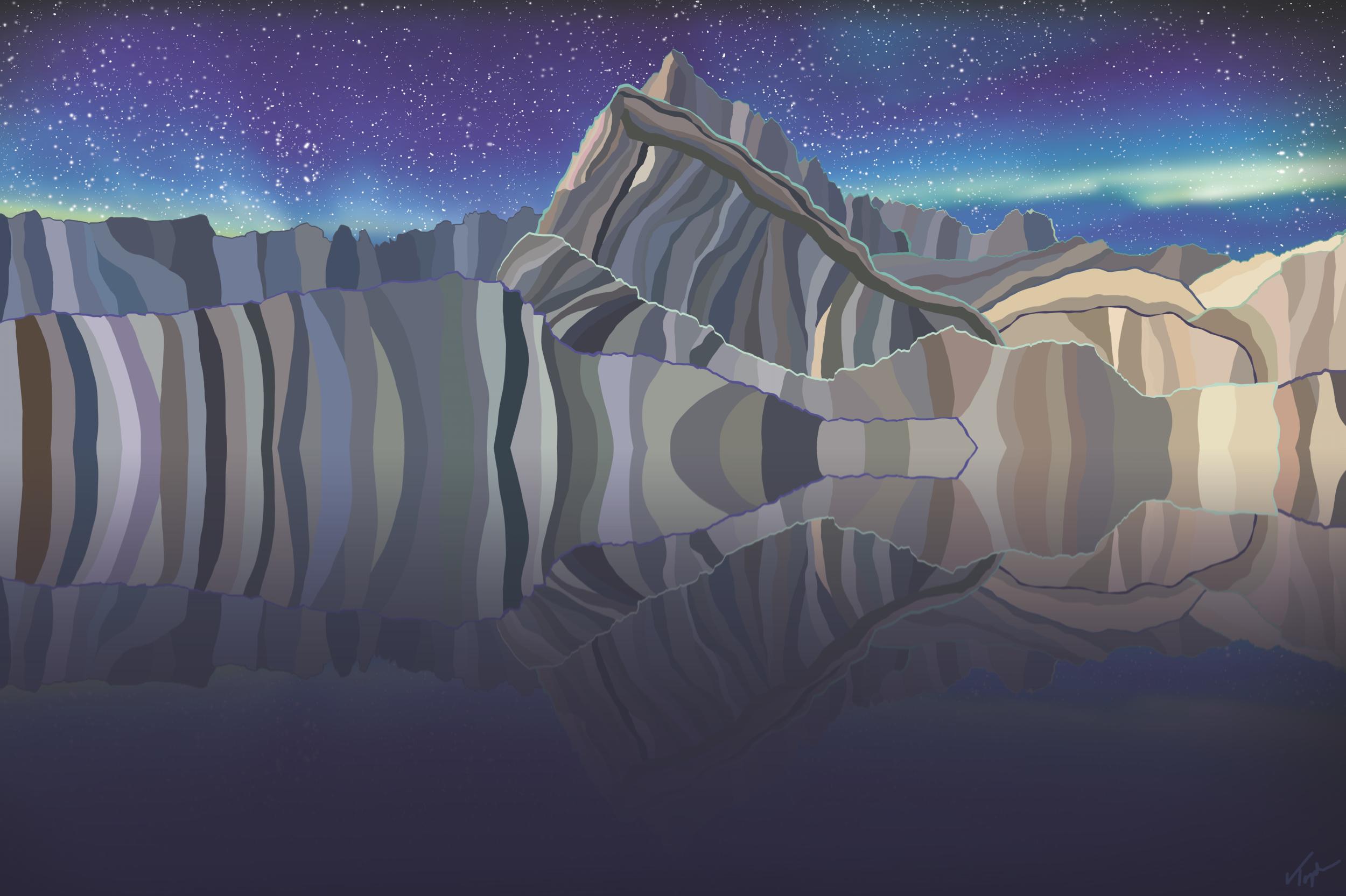 Mirror Lake  , 2019  Dye Sublimation Print on Aluminium  40 × 60 × 1 in