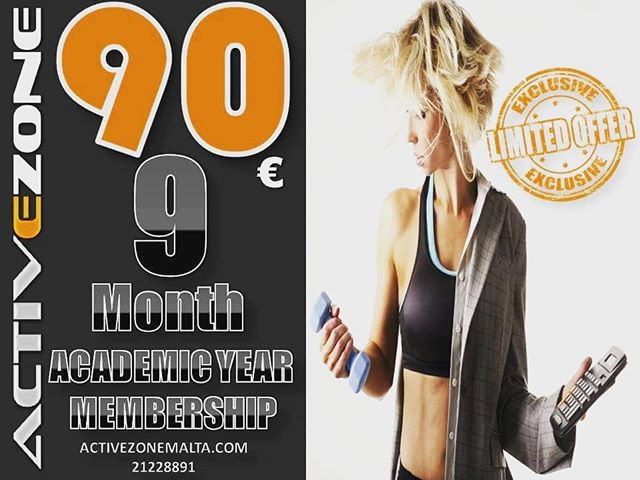 Student Membership 9 months 90€ - Grab yours today!  #fitness #fit #fitnessaddict #workout #bodybuilding #cardio #gym #gymlife #gymtime #gymmotivation #training #healthy #determination #strong #getfit #trainers #exercise #instasport #muscle #nopainnogain #msida #malta #juniorcollege #taxbiex #pieta #igaming #universityofmalta #mcast
