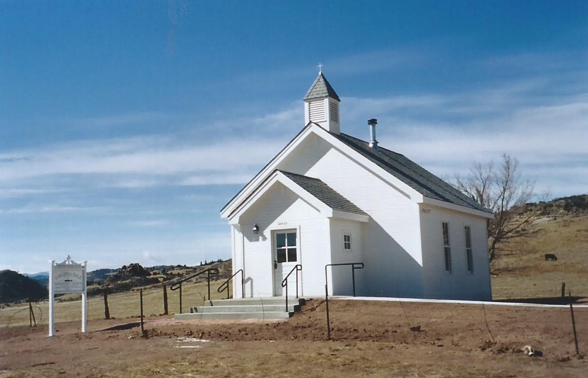 The rebuilt church in 2004.