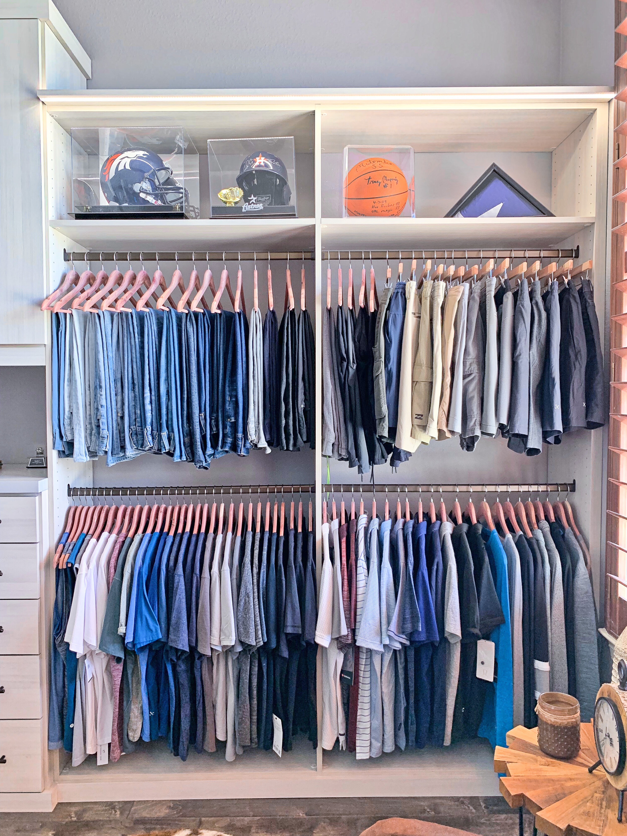 Closet Organization - Organized by Style & by Color