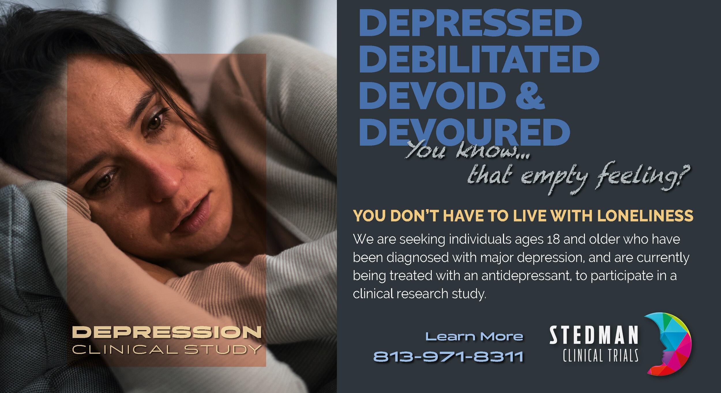 Major Depression Clinical Trial
