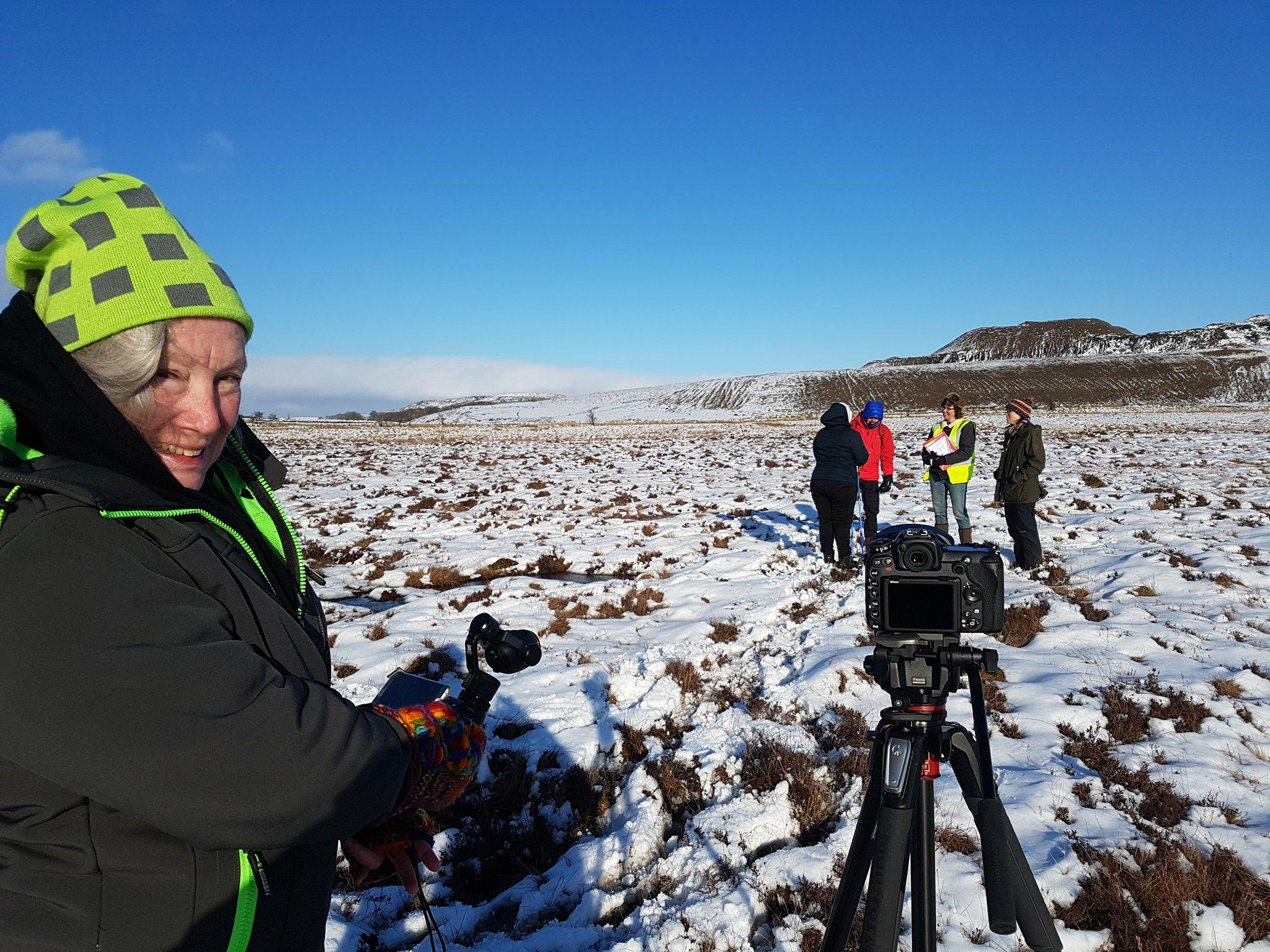 Working in all types of environment! - Filming at Low Moss for East Ayrshire's Coalfield Environment Initiative