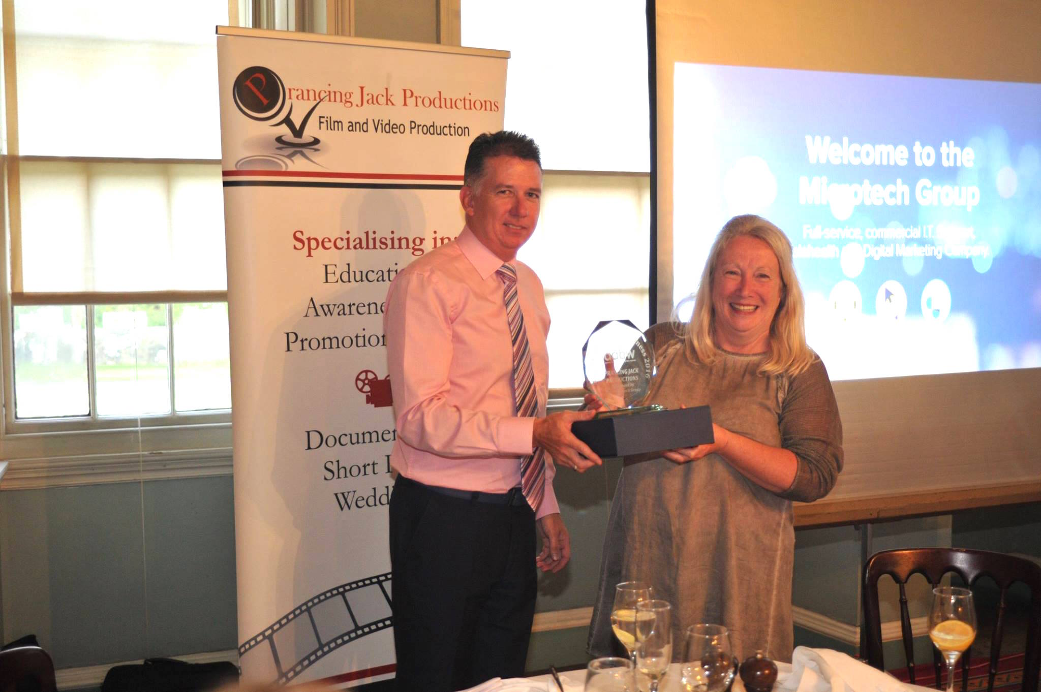Receiving ABW Ayrshire Enterprising Business of the Year Award 2016   We were delighted to receive this award which was presented by Microtech Ayr in the lovely surroundings of Culzean Castle.