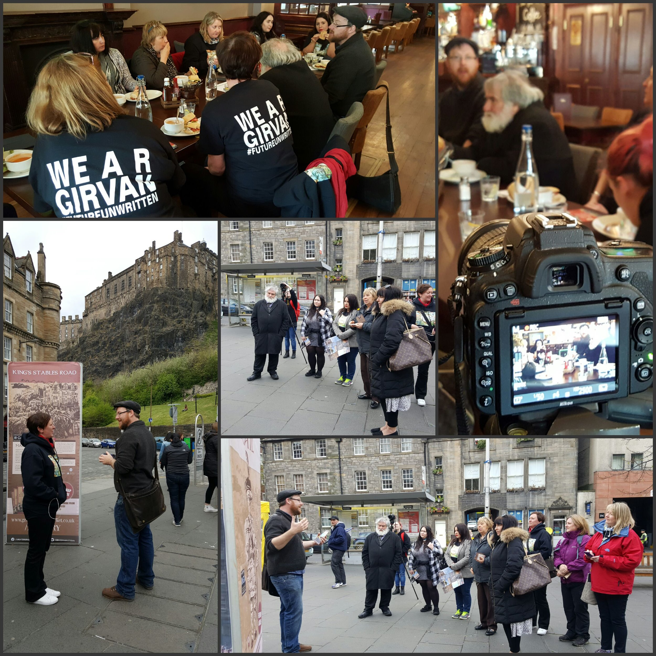 We get about, and here we are filming in Edinburgh for Ros Halley's Tartan Jigsaw, innovative and always lots of fun