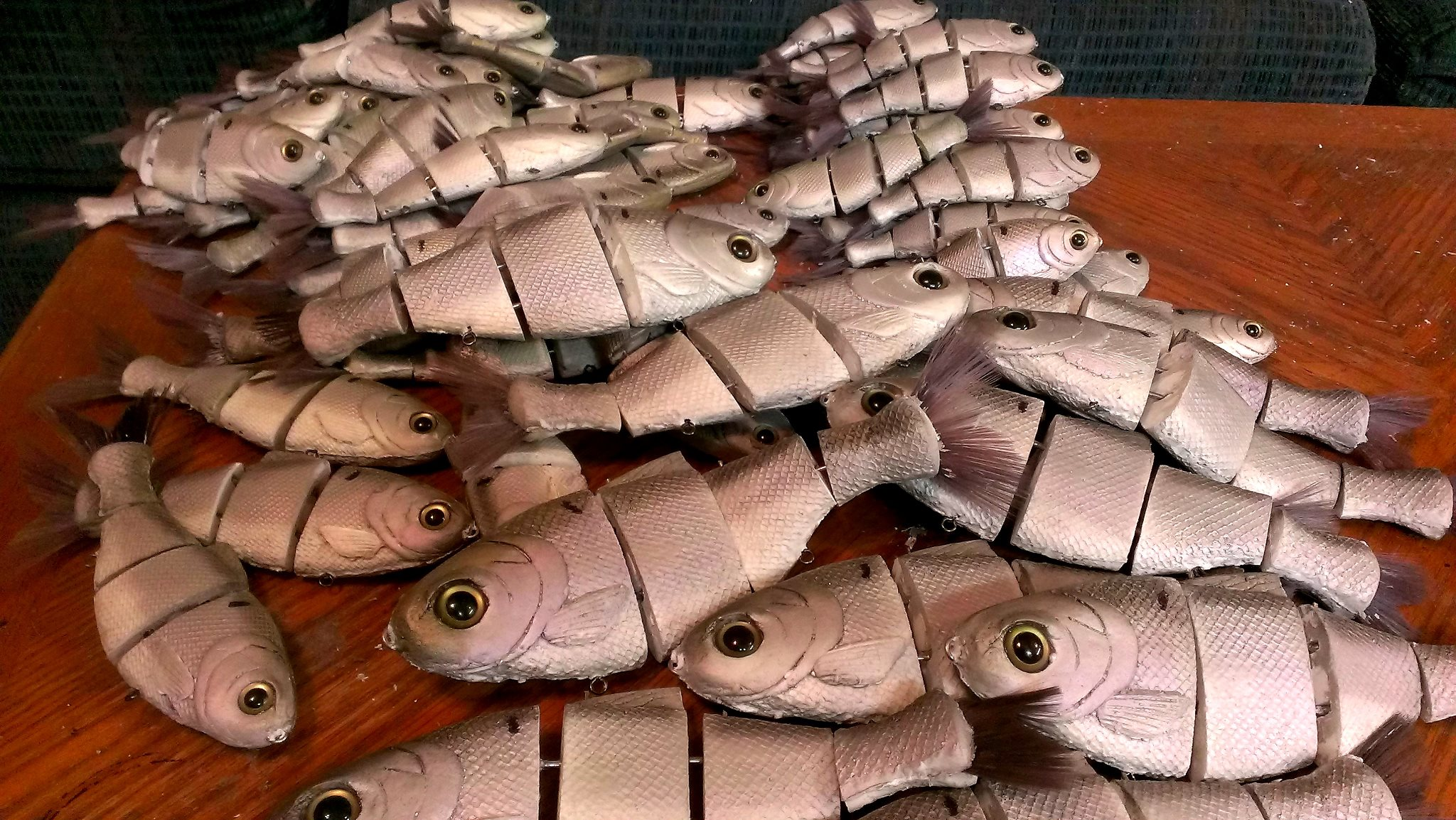 A  Pile of Gizzard Bull Shads awaits shipment