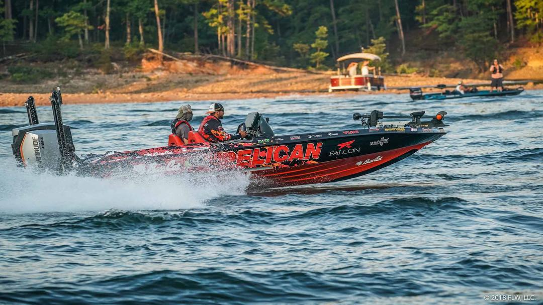 Zack Birge on the making that Evinrude Snort as he's on the hunt! Photo Courtesy of FLW Outdoors LLC