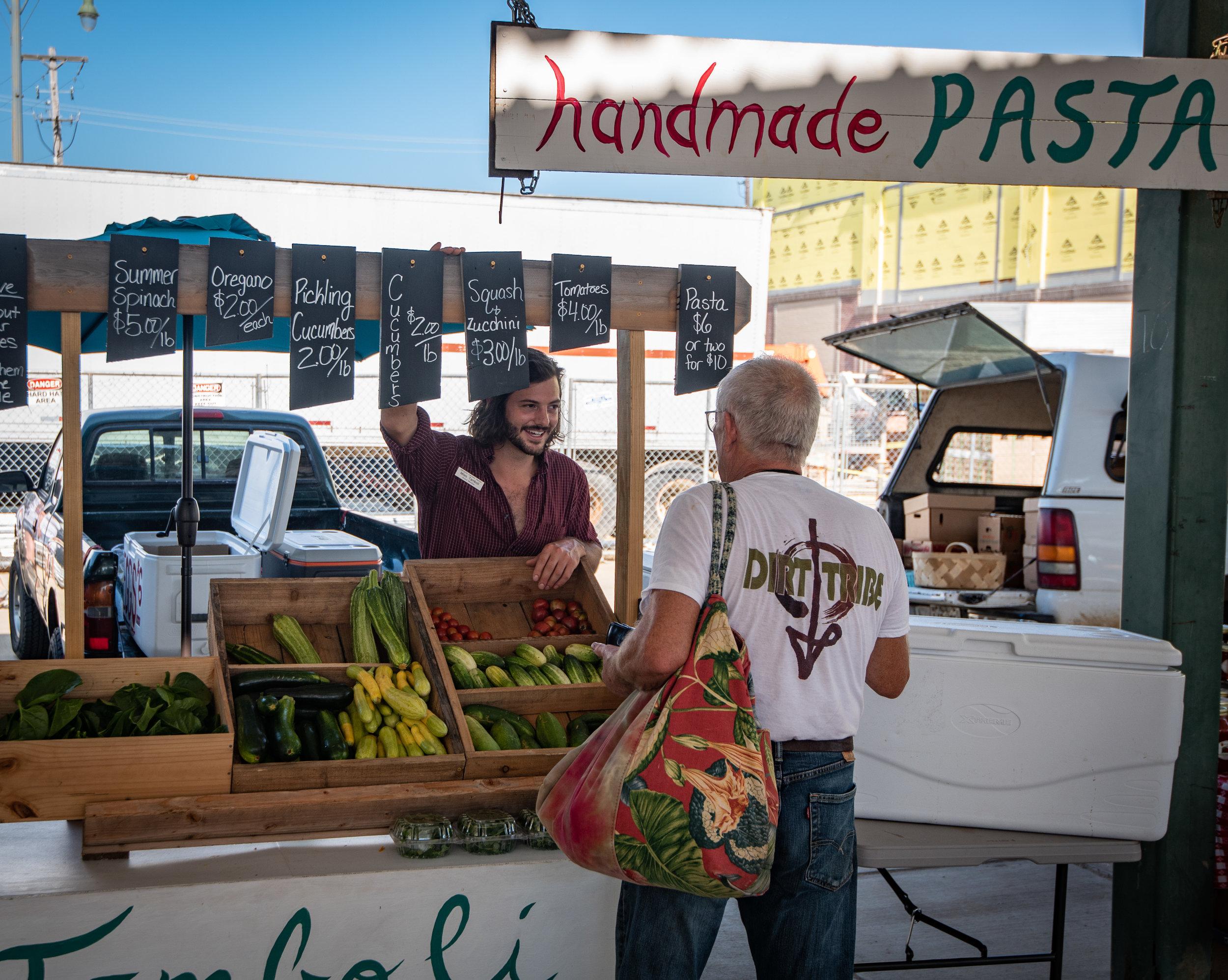 Miles Tamboli at the Memphis Farmer's Market