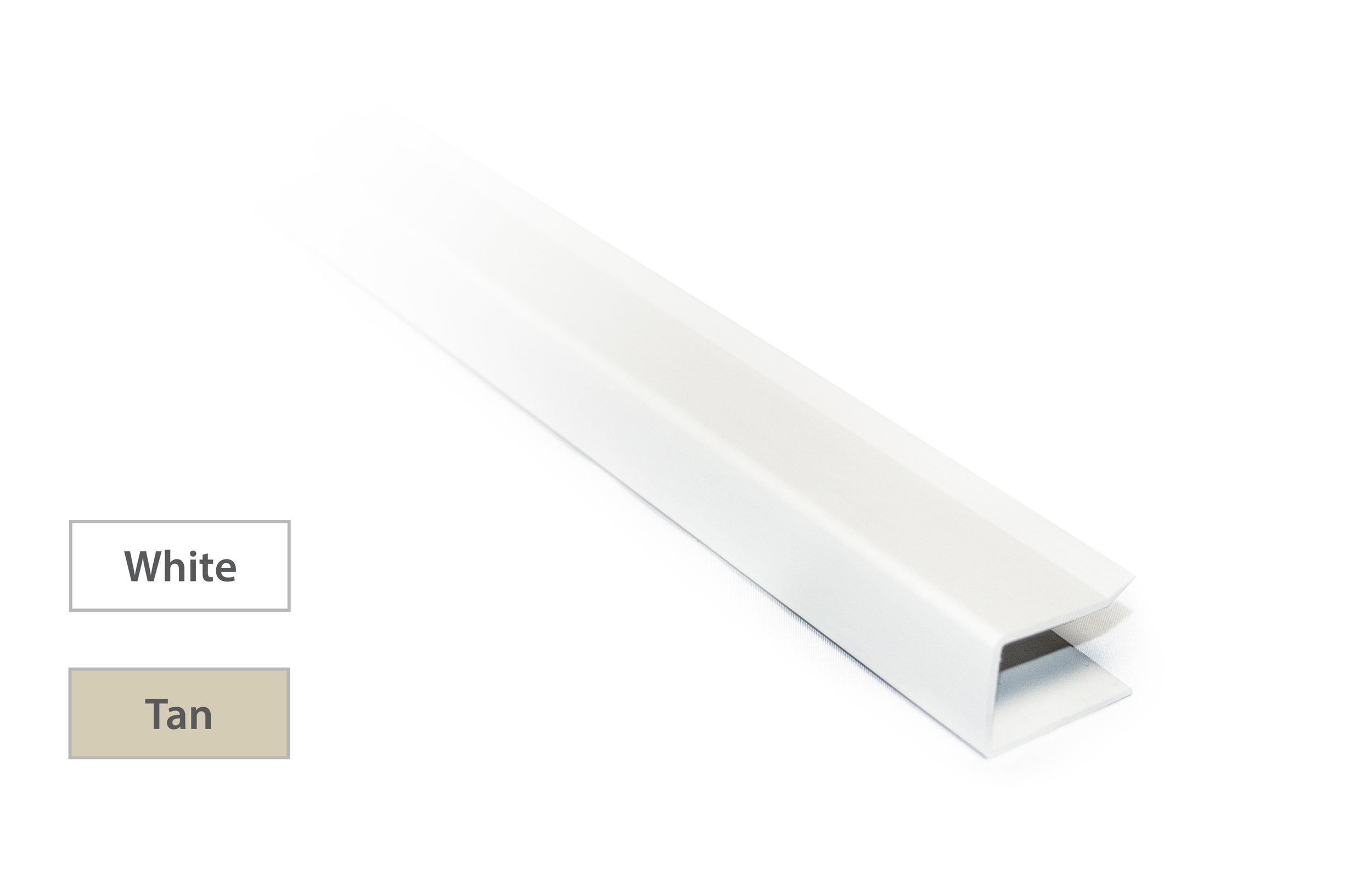 C-Channel - Made of vinyl materialProvides a clean finished lookAvailable in White or Tan