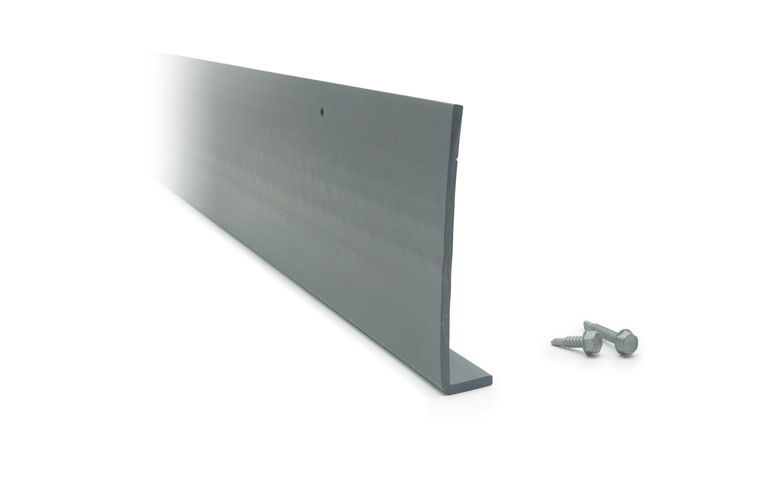 Quick Install Track - Attaches to joist to set pitch for drainageAccommodates for uneven joistsCorrosion-resistant, self-tapping steel screws with 1000-hour salt-spray protective coating (sold separately)Made of durable vinyl material10' lengths