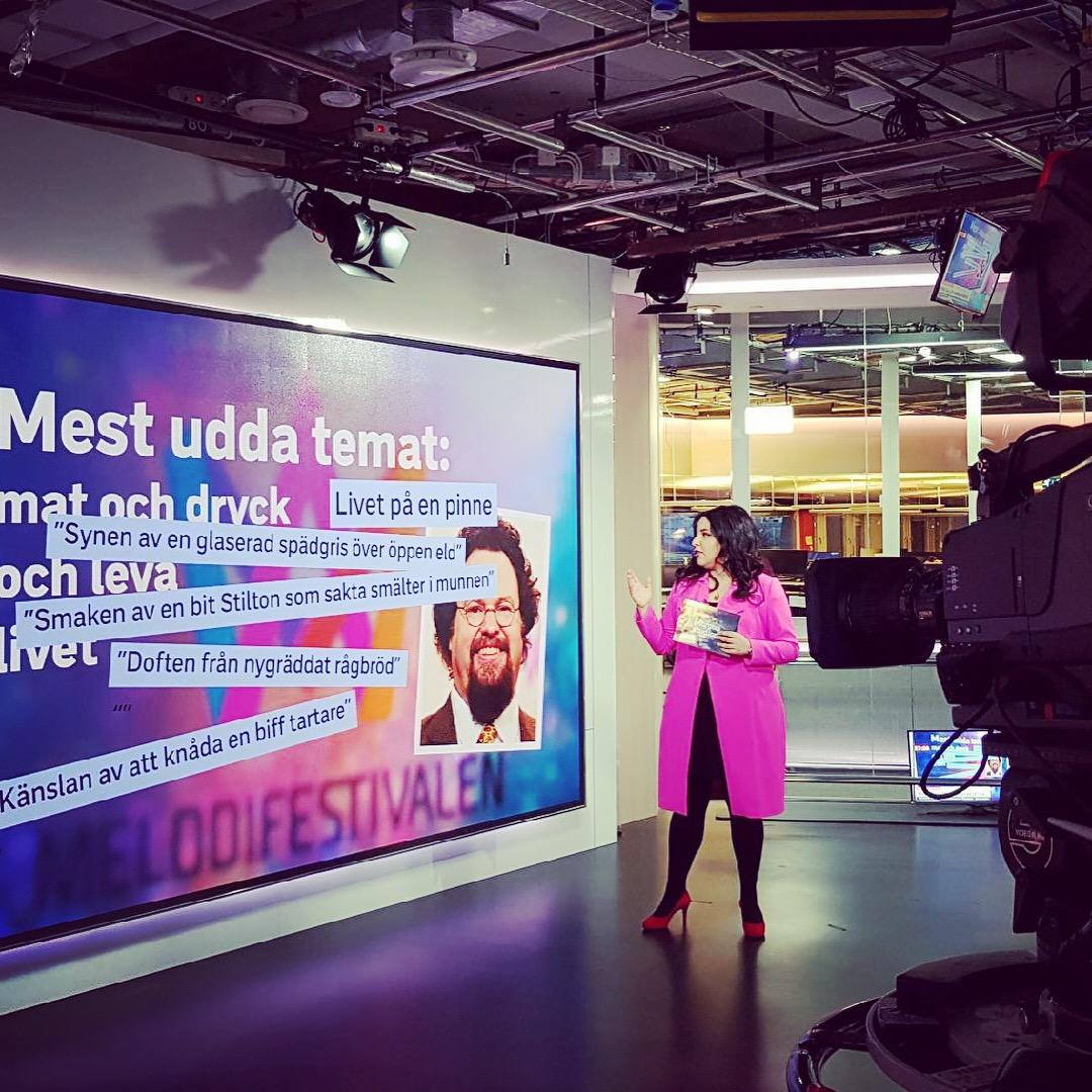 Ibland rapporterar vi om konflikter, kulturpolitik och Svenska Akademien. Ibland handlar det om Edward Bloms låttext i Melodifestivalen.