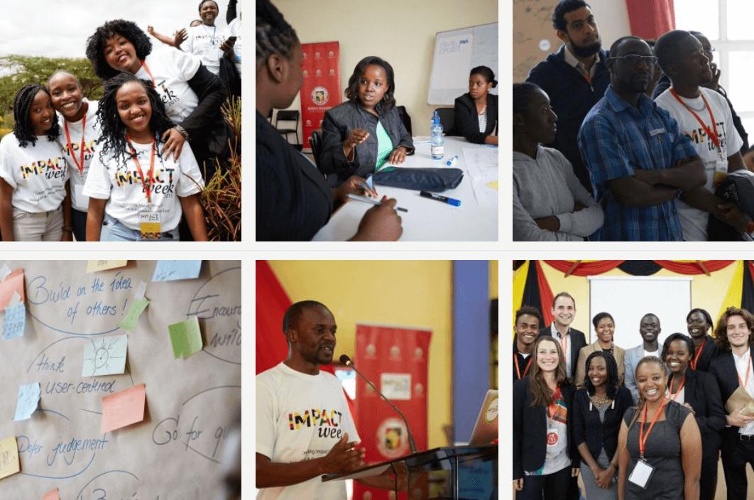 Impact weeks - Entrepreneurships - Die Impact Week ist ein Non-Profit-Programm, das Menschen aus verschiedenen Ländern vereint, um mit Design Thinking nachhaltige Geschäftsmodelle zu entwickeln. In unseren