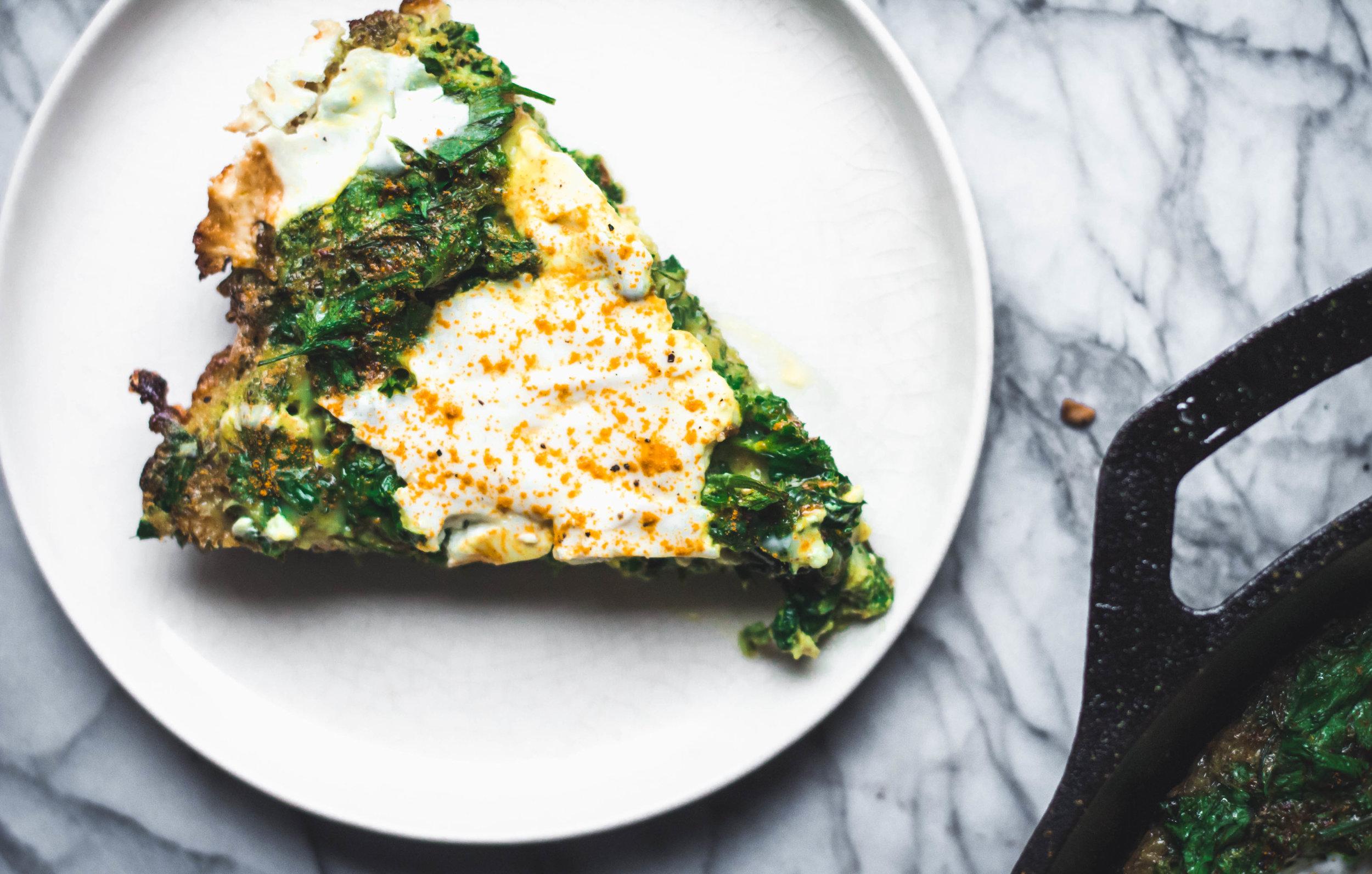 herby post-holiday yogurt frittata - Rune Haus Recipes