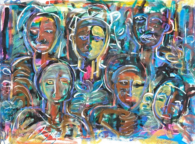 """""""Study for Spirits Watching"""" by David Driskell"""