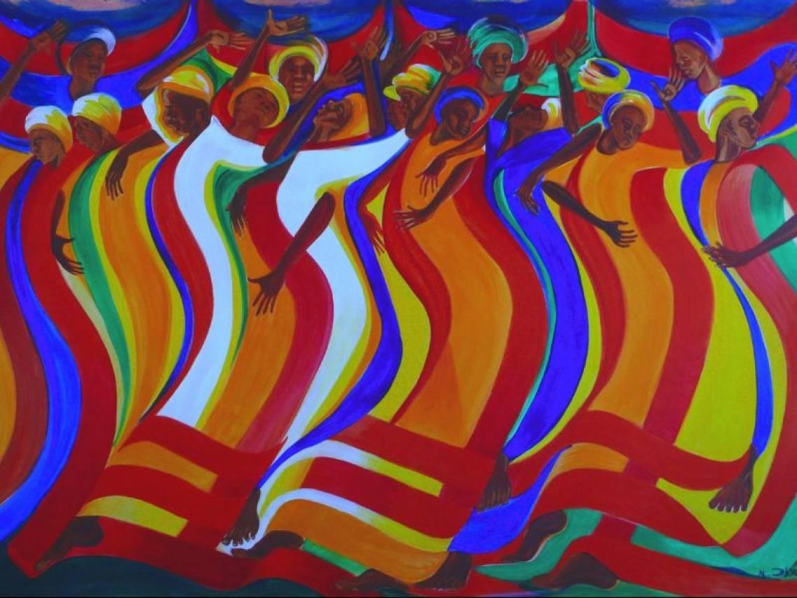 Abundance of Ribbon by Bernard Hoyes (Jamaica)