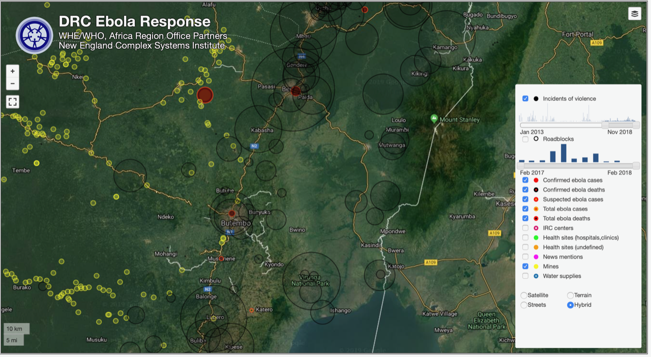 Visualization for assistance to Ebola response.