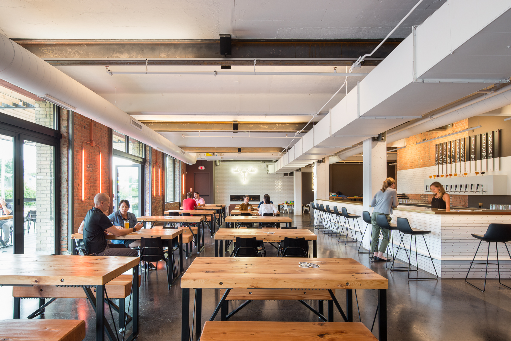 Modern brewery and taproom renovation in Minneapolis by Christian Dean Architecture.