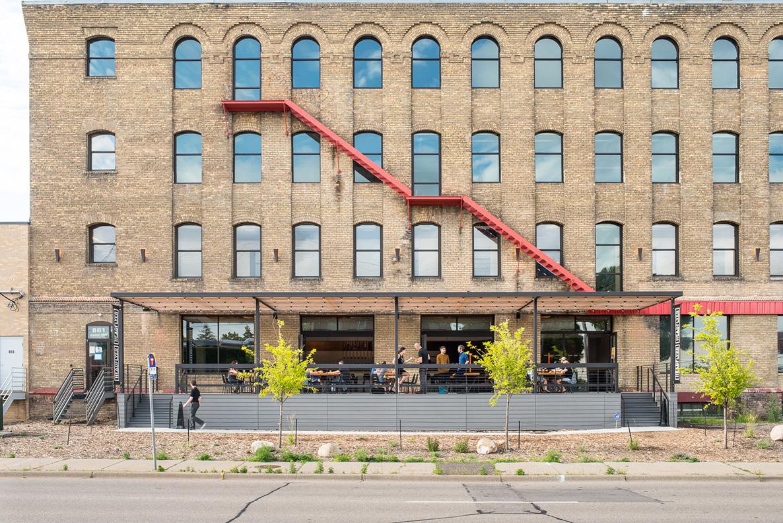Brewery remodel in Miller Textile Building in Northeast Minneapolis.