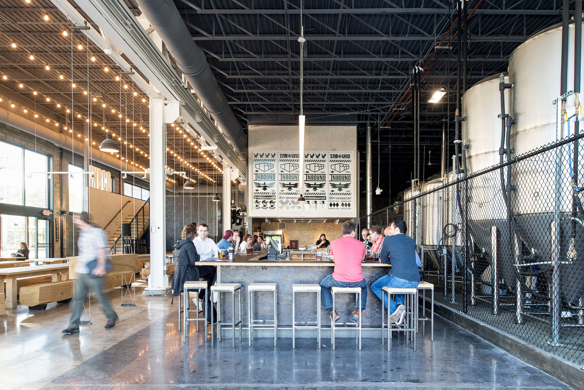 Modern brewery and taproom space in Minneapolis by Christian Dean Architecture.