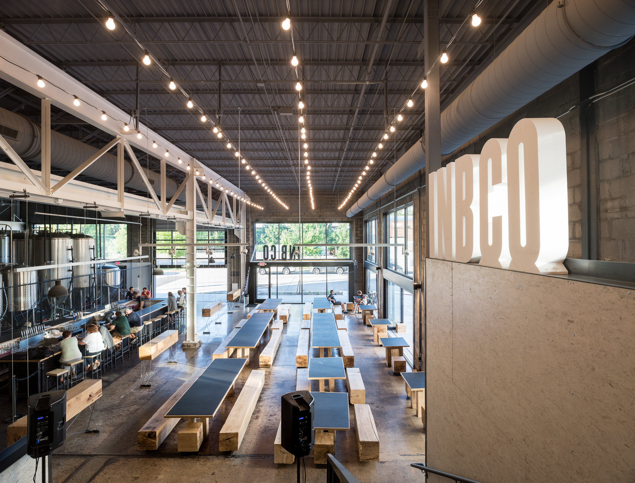 Modern brewery remodel of industrial space in Minneapolis by Christian Dean Architecture.
