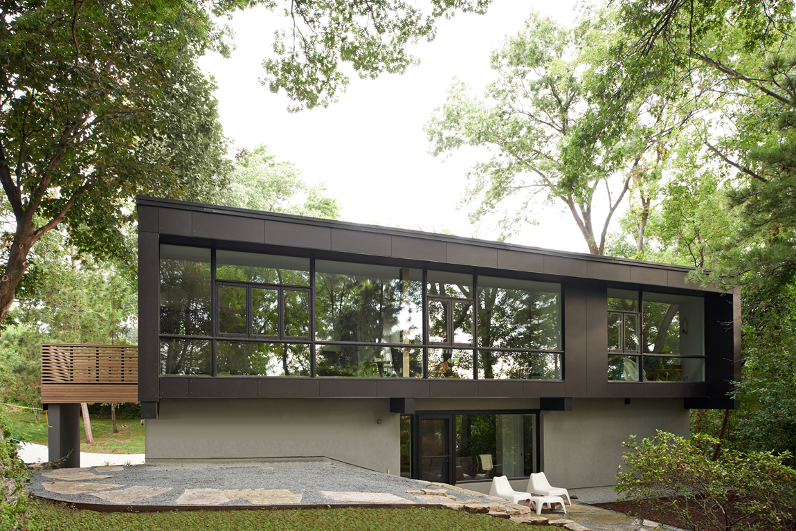 Modern home with corten steel exterior in Minneapolis by Christian Dean Architecture
